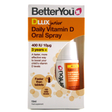 DluxJunior Daily Vitamin D Oral Spray 400 IU 10mg