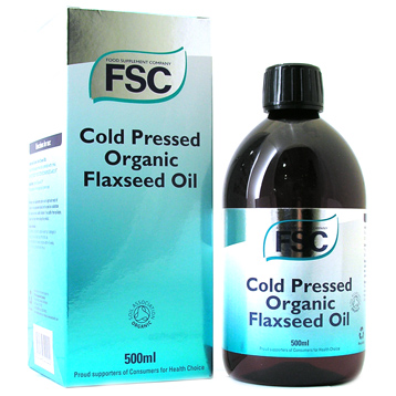 Cold Pressed Organic Flaxseed Oil