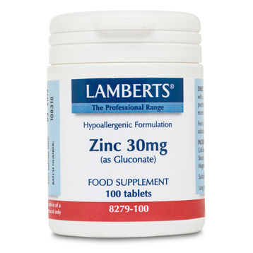 Zinc 30mg (as Gluconate)